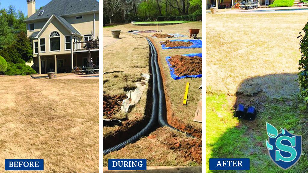 Backyard drainage in Dawsonville GA- Specializes in ...